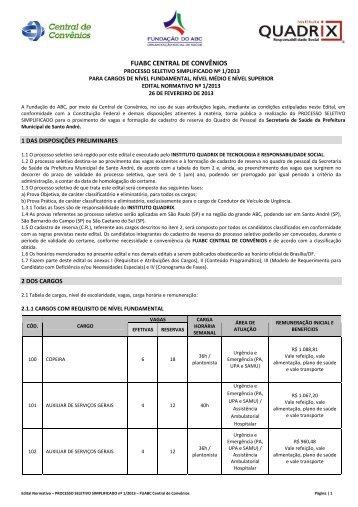 FUABC CENTRAL DE CONVÊNIOS