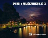 Miljokalender 2013 - Ulricehamns Energi