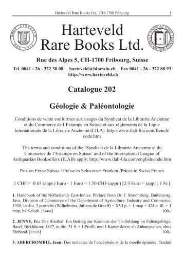Catalogue 202 Géologie & Paléontologie - Harteveld Rare Books Ltd.