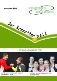Wir spielen Tennis beim TVBH - Tennisverein Buocher Höhe