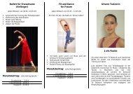 Ballett für Erwachsene (Anfänger) Fit and Dance für Frauen Unsere ...
