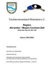 Region Ahrweiler / Mayen-Cochem-Zell www.aw-my-coc.ttvr.net ...