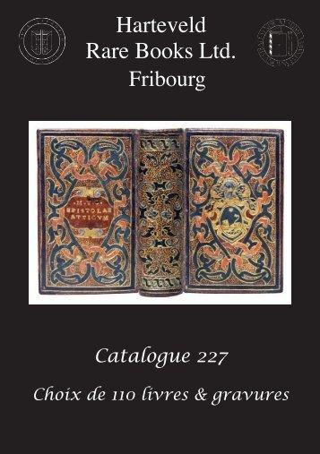 Tous les prix en Francs Suisses - Harteveld Rare Books Ltd.