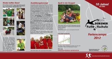 Feriencamps 2012 10 Jahre! - TV-Herkenrath-Fussball