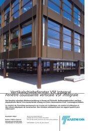 Fenêtre coulissante verticale VSF intégrale - Hartmann & Co AG