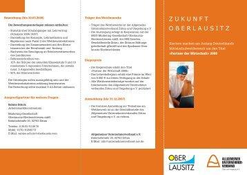 zukunft oberlausitz - Allgemeine Unternehmerverband Zittau und ...