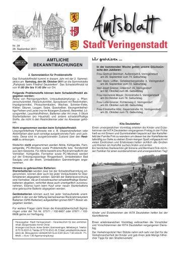 Amtsblatt KW 39 - Veringenstadt