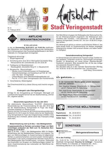 Amtsblatt KW 08 - Veringenstadt
