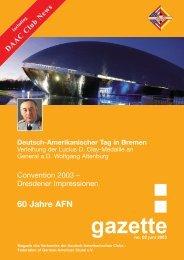 .gazette 02/03 - Verband der Deutsch-Amerikanischen Clubs e.V.