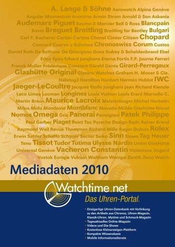 Mediadaten 2010 - Watchtime.net