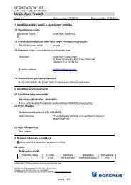 bezpečnostní list nac cz - Linzer Agro Trade