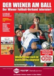 DER WIENER AM BALL - Wiener Fußball Verband