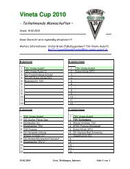 Vineta Cup 2010 - TSV Vineta Audorf e. V.