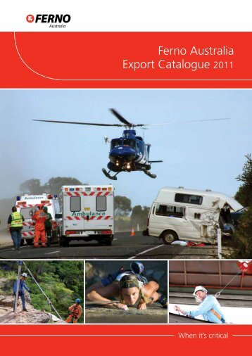 Ferno Australia Export Catalogue 2011 - Who-sells-it.com
