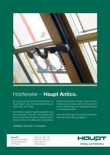 Holzfenster – Haupt Antico. - Haupt AG