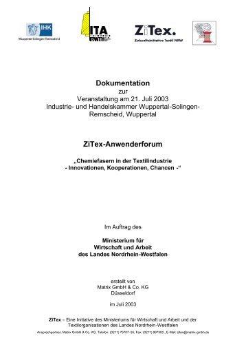 Zur Veranstaltung Am 21. Juli 2003 Industrie - ZiTex