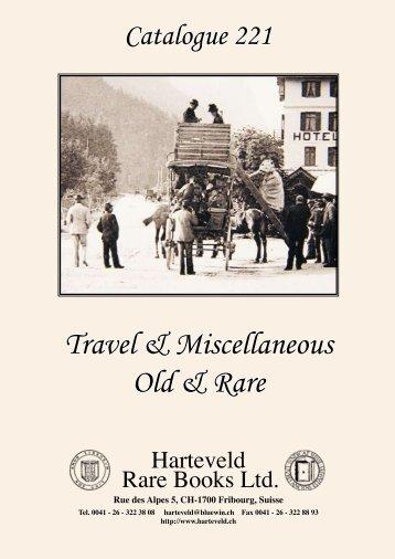 Travel & Miscellaneous Old & Rare - Harteveld Rare Books Ltd.