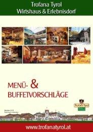 Menü- und Buffetmappe Version 1.13.cdr - Trofana Tyrol
