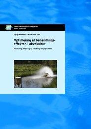 Optimering af behandlingseffekten i akvakultur. Minimering af ...