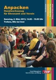 Anpacken - Tiroler Bildungsforum