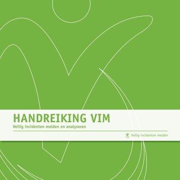 Handreiking ViM - Veilige zorg, ieders zorg