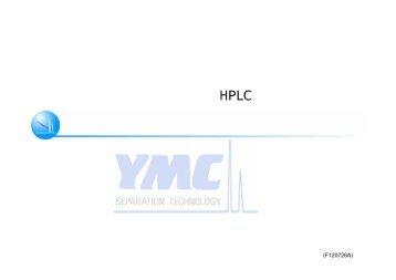 ペプチド・タンパク質の逆相HPLC分析における カラム温度の効果