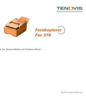 Fernkopierer Fax 376