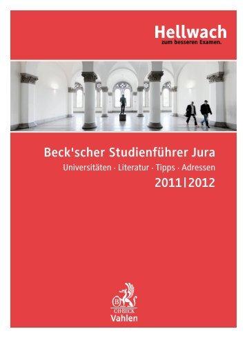 Beckscher Studienfuehrer 2011