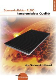 CONERGY Solar Kollektoren [PDF, 391 KB] - Haustechnet