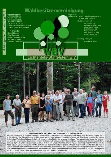 Mitteilungen 16 2011 - Waldbesitzervereinigung Lichtenfels