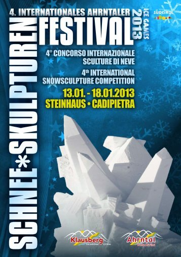 13.01. - 18.01.2013 steinhaus • cadipietra - Ferienregion Tauferer ...