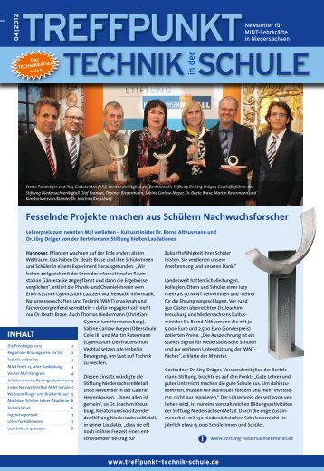 Ausgabe 04/2012 - Treffpunkt Technik in der Schule