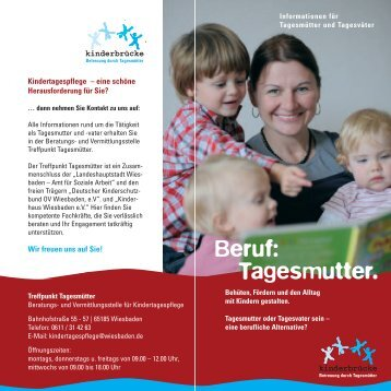 Beruf: Tagesmutter. - Landeshauptstadt Wiesbaden