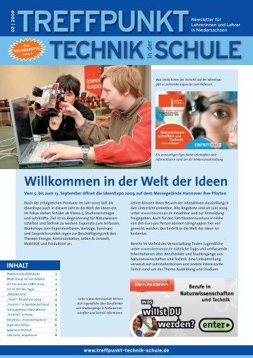 Willkommen in der Welt der Ideen - Treffpunkt Technik in der Schule