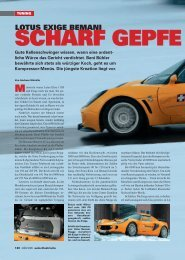 LOTUS EXIGE BEMANI SCHARF GEPFE - Jakob Hauser AG