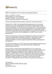 DKV Tankkarte mit Finanzierungsfunktion - Firmendb