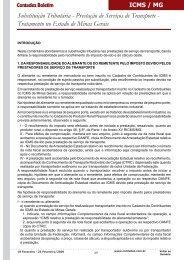 Substituição Tributária - Prestação de Serviços de Transporte ...