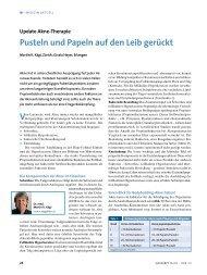 Update Akne-Therapie Pusteln und Papeln auf ... - Hautzentrum Zürich
