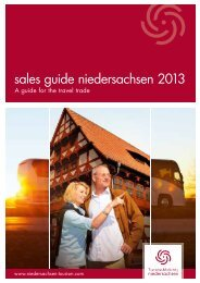 sales guide niedersachsen 2013 - Tourismuspartner Niedersachsen
