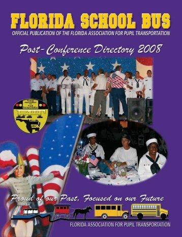 Fall Directory 2008 - Florida Association for Pupil Transportation