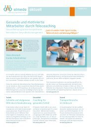 Gesunde und motivierte Mitarbeiter durch Telecoaching - Almeda