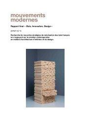Rapport final « Bois, Innovation, Design » - Ministère de l'agriculture
