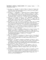 REFEREED JOURNAL PUBLICATIONS (PI's Graduate Student ...