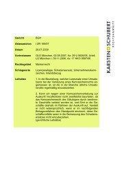 BGH I ZR 169/07 BTK - Karsten + Schubert