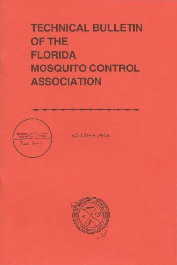 Bulletin Volume # 5 (2005) (PDF) - Florida Mosquito Control ...