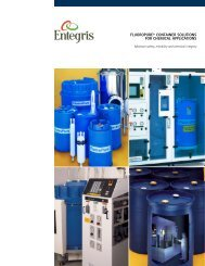 FluoroPure® Container Solutions for Chemical Applications - Entegris