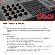 MPC Release Notes - Akai Pro MPC