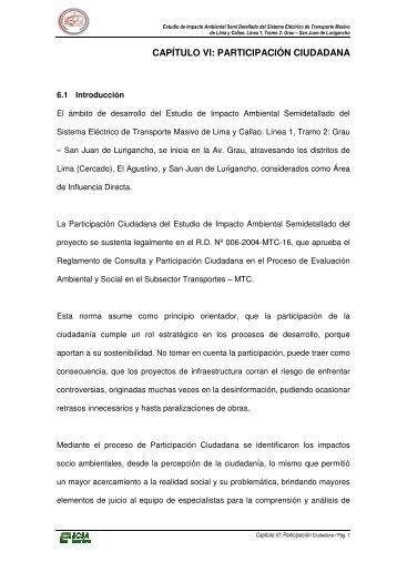 participación ciudadana - Ministerio de Transportes y Comunicaciones