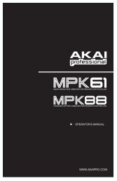 MPK61-MPK88 Operator's Manual - RevA - zZounds.com