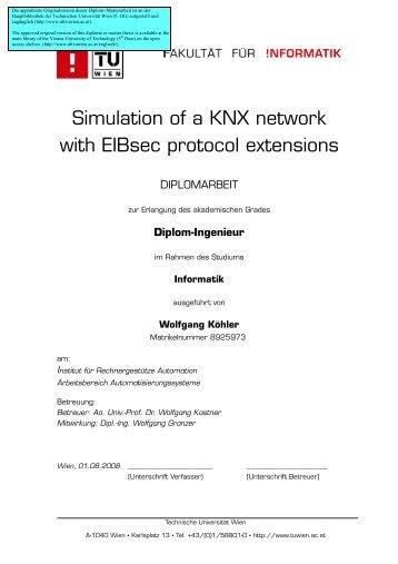 Simulation of a KNX network - Technische Universität Wien